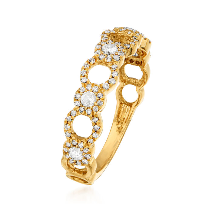 .50 ct. t.w. Diamond Open-Circle Ring in 14kt Yellow Gold