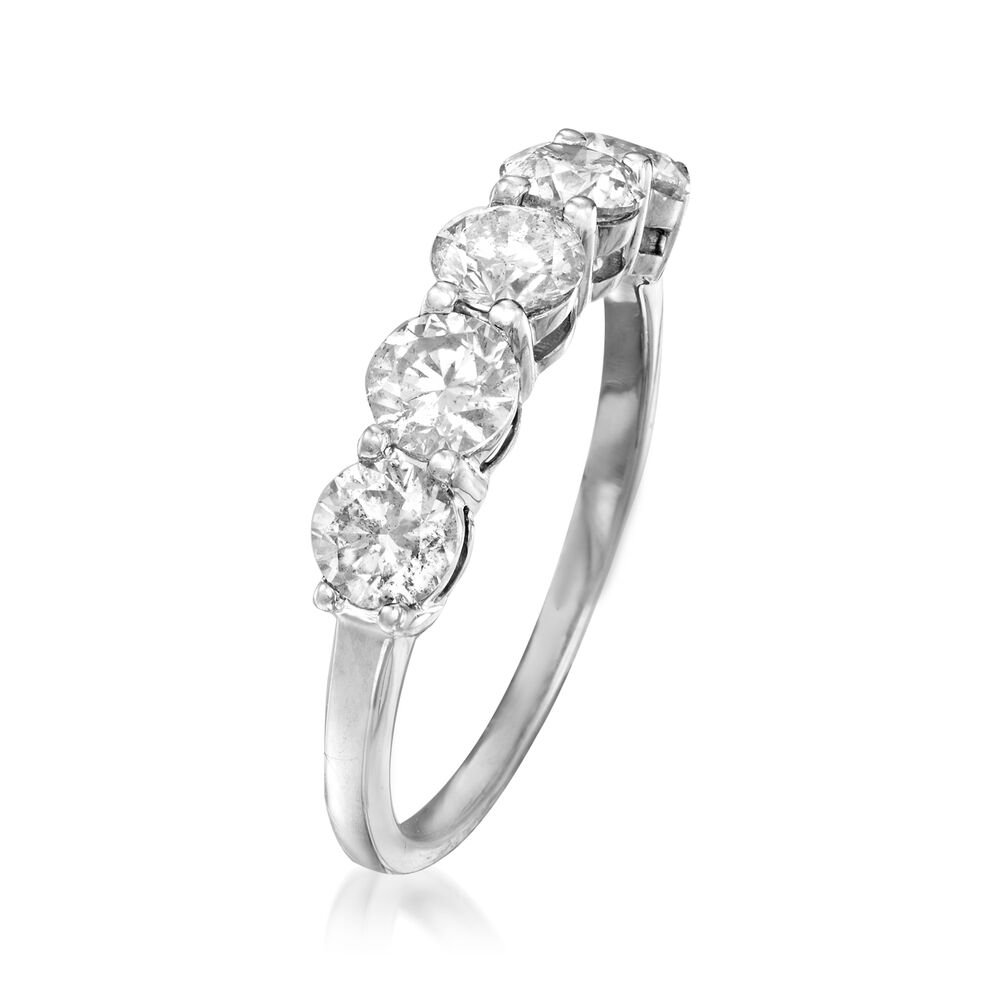 1ct Diamond Bands: 1.50 Ct. T.w. Diamond Five-Stone Ring In 14kt White Gold