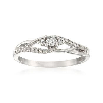 .28 ct. t.w. Diamond Promise Ring in 14kt White Gold, , default