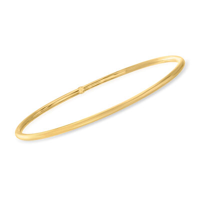 Italian 14kt Yellow Gold Polished Bangle Bracelet