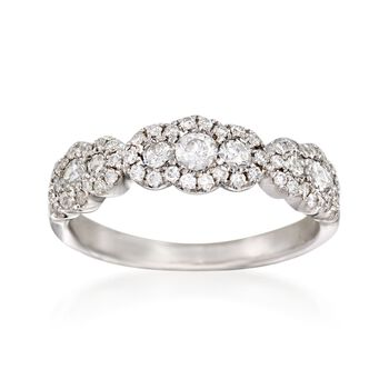 .77 ct. t.w. Diamond Ring in 14kt White Gold, , default