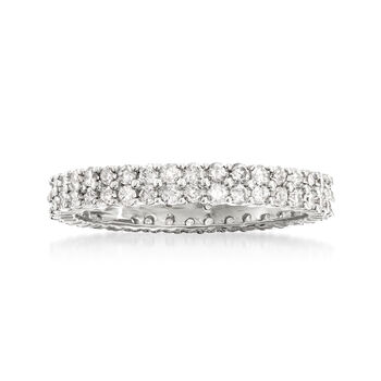 1.00 ct. t.w. Diamond Double-Row Eternity Band in 14kt White Gold