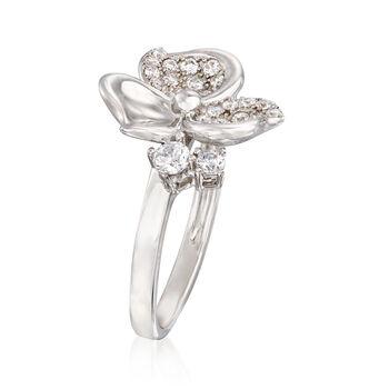 .45 ct. t.w. CZ Flower Ring in Sterling Silver