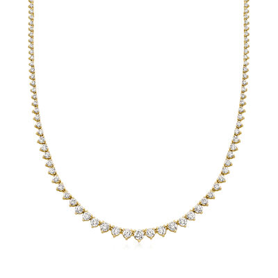 7.00 ct. t.w. Diamond Tennis Necklace in 14kt Yellow Gold