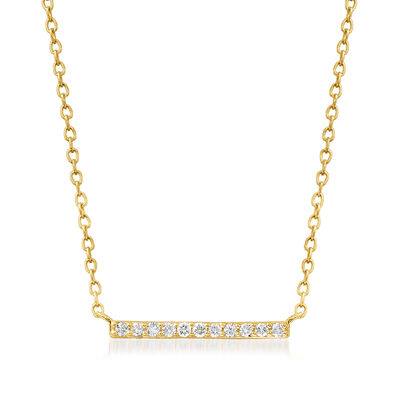 .10 ct. t.w. Diamond Bar Necklace in 18kt Gold Over Sterling