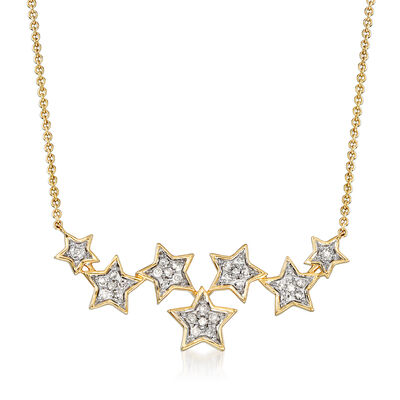 .21 ct. t.w. Diamond Multi-Star Necklace in 14kt Yellow Gold