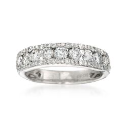 1.23 ct. t.w. Diamond Wedding Ring in 14kt White Gold , , default