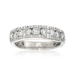1.23 ct. t.w. Diamond Wedding Ring in 14kt White Gold , , default