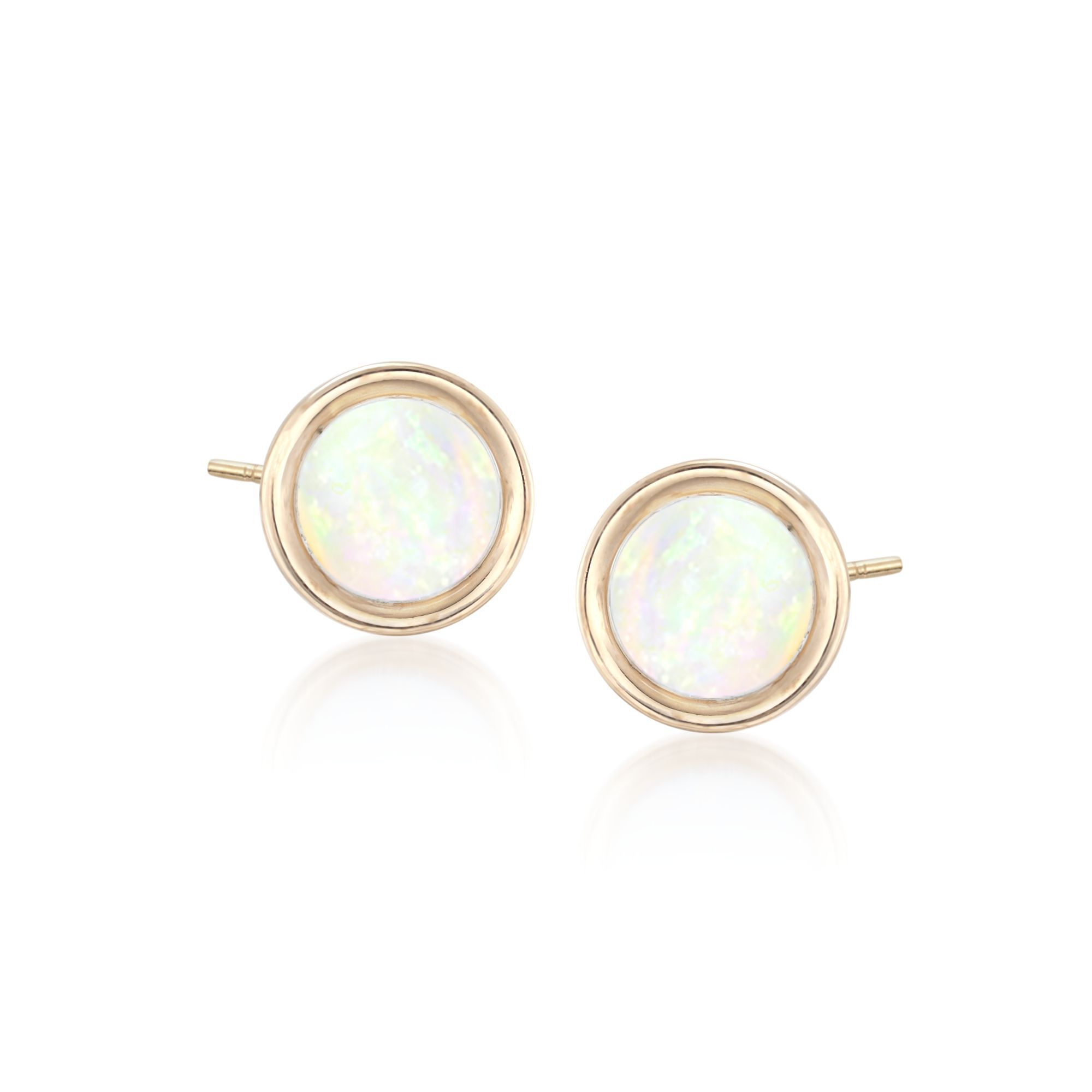 1 Pair STERLING SILVER EARRING STUDS for 5mm DIAMETER ROUND CABOCHON GEMSTONES