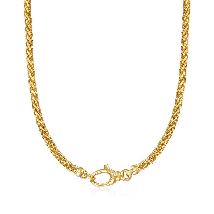 "Italian Andiamo 14kt Yellow Gold Necklace. 18"", , default"
