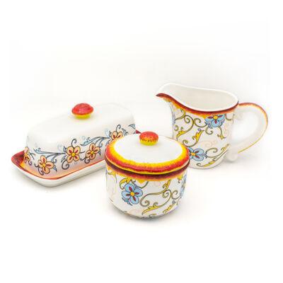 """Euro Ceramica """"Duomo"""" Renaissance Set of 3 Serveware"""
