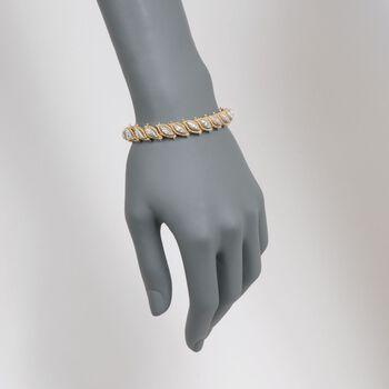"C. 1970 Vintage 2.00 ct. t.w. Diamond Leaves Bracelet in 18kt Two-Tone Gold. 7.25"", , default"