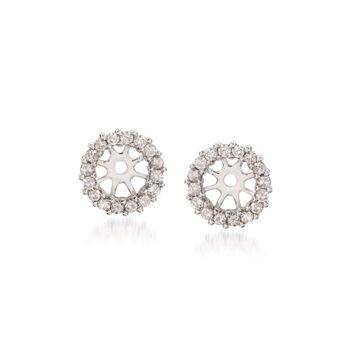 .30 ct. t.w. Diamond Earring Jackets in 14kt White Gold, , default