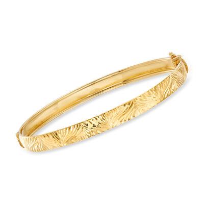 Italian Bangle Bracelet in 18kt Yellow Gold, , default