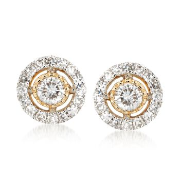 .33 ct. t.w. Diamond Jewelry Set: Earrings and Earring Jackets in 14kt Yellow Gold, , default
