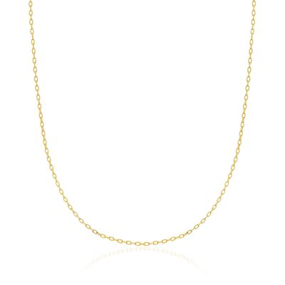 1.8mm 14kt Yellow Gold Cable Chain Necklace