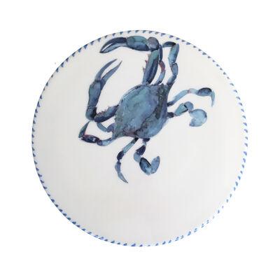 Abbiamo Tutto Italian Blue Crab Ceramic Trivet/Cheeseboard, , default