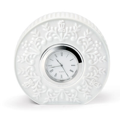 "Lladro ""Logos"" Porcelain Table Clock"