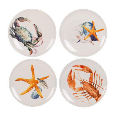 "Fitz and Floyd ""Newport Home"" Set of 4 Accent Plates"