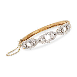 C. 1980 Vintage 1.50 ct. t.w. Diamond Bracelet in 14kt Yellow Gold, , default
