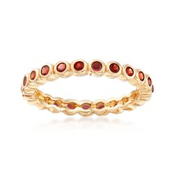 .96 ct. t.w. Bezel-Set Garnet Eternity Band in 18kt Gold Over Sterling, , default