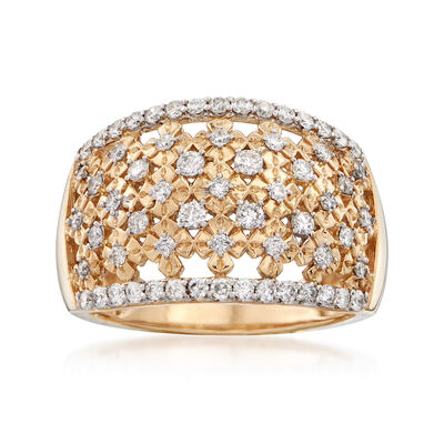 .75 ct. t.w. Diamond Dome Ring in 14kt Yellow Gold, , default