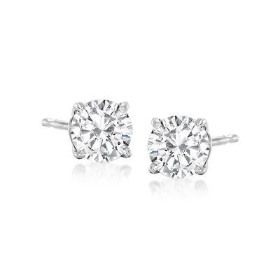 .75 ct. t.w. Diamond Stud Earrings in 14kt White Gold