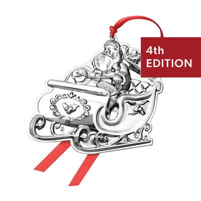 Wallace 2020 Sterling Silver Santa Ornament - 4th Edition