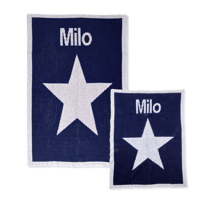 Child's Butterscotch Blankees Personalized Metallic Star Crib Blanket , , default