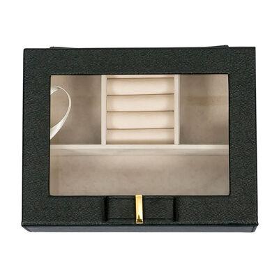 "Mele & Co. ""Dixie"" Black Faux Leather Travel Jewelry Box, , default"