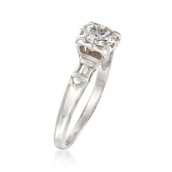 C. 1970 Vintage .58 ct. t.w. Diamond Engagement Ring in 14kt White Gold. Size 5, , default