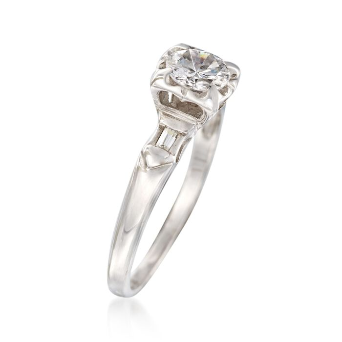 C. 1970 Vintage .58 ct. t.w. Diamond Engagement Ring in 14kt White Gold