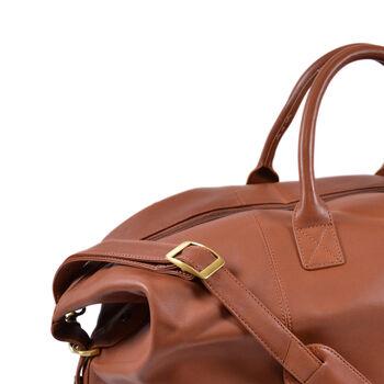 """Royce """"Executive Office"""" Tan Leather Weekender Duffel Bag, , default"""