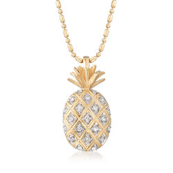 .10 ct. t.w. Diamond Pineapple Pendant Necklace, , default