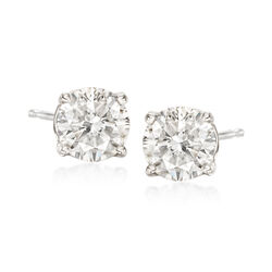 1.50 ct. t.w. Diamond Stud Earrings in 14kt White Gold, , default