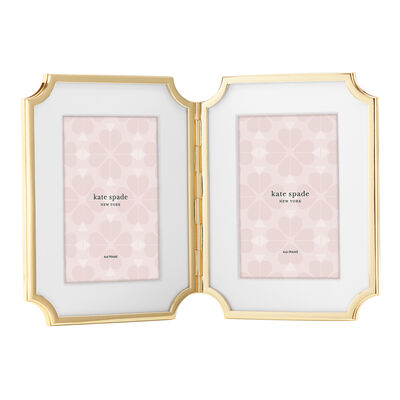 "Kate Spade New York ""Sullivan Street"" Gold-Plated 4x6 Double Frame"