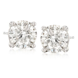 4.00 ct. t.w. Diamond Stud Earrings in Platinum, , default