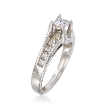 C. 2000 Vintage 1.30 ct. t.w. Princess-Cut Diamond Engagement Ring in 14kt White Gold. Size 7, , default