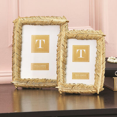 """Ooh La La Gold"" Set of Two Golden Feather Frames , , default"