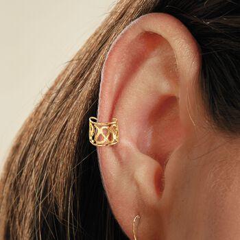 14kt Yellow Gold Open Single Ear Cuff, , default