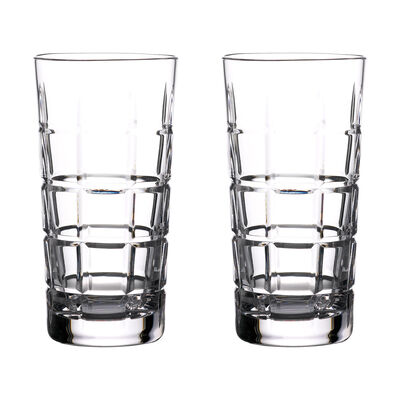 """Waterford Crystal """"Gin Journeys"""" Set of Two Cluin Highball Glasses"""