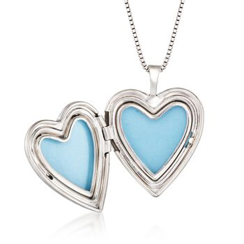"""Sterling Silver Mother/Daughter Jewelry Set: Two Heart Locket Necklaces. 14""""-18"""", , default"""