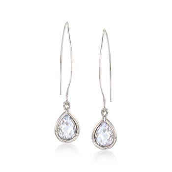 3.50 ct. t.w. Pear-Shaped CZ Drop Earrings in Sterling Silver, , default