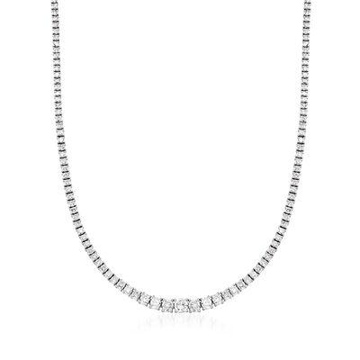 C. 1990 Vintage 10.00 ct. t.w. Diamond Tennis Necklace in Platinum