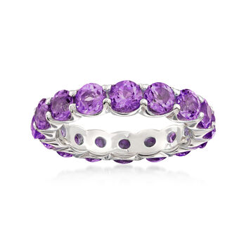 3.30 ct. t.w. Amethyst Eternity Band in Sterling Silver, , default