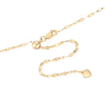 "Italian 2mm 18kt Yellow Gold Over Sterling Silver Adjustable Slider Mirror-Link Chain Necklace. 24"", , default"