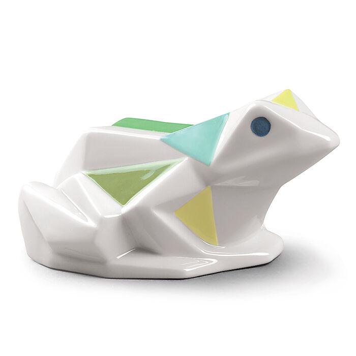 "Lladro ""Origami"" Porcelain Frog Figurine"