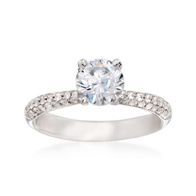 Simon G. .42 ct. t.w. Diamond Engagement Ring Setting in 18kt White Gold