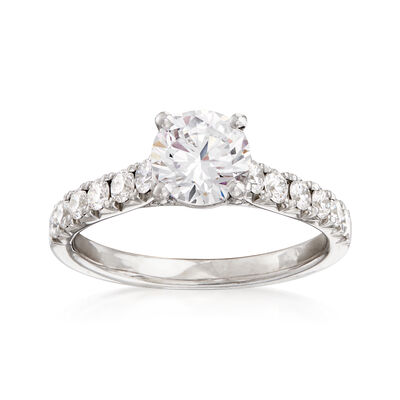 .52 ct. t.w. Diamond Engagement Ring Setting in 14kt White Gold