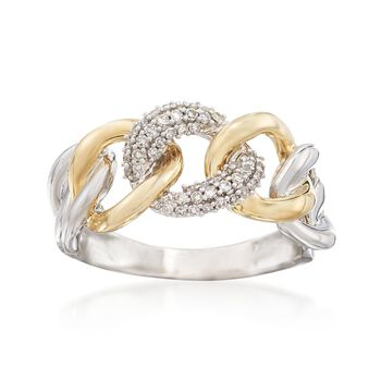 .20 ct. t.w. Diamond Link Ring in 14kt Two-Tone Gold, , default